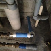 新規設置した樹脂配管