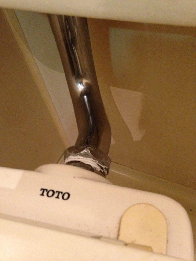 トイレタンクのメッキ管
