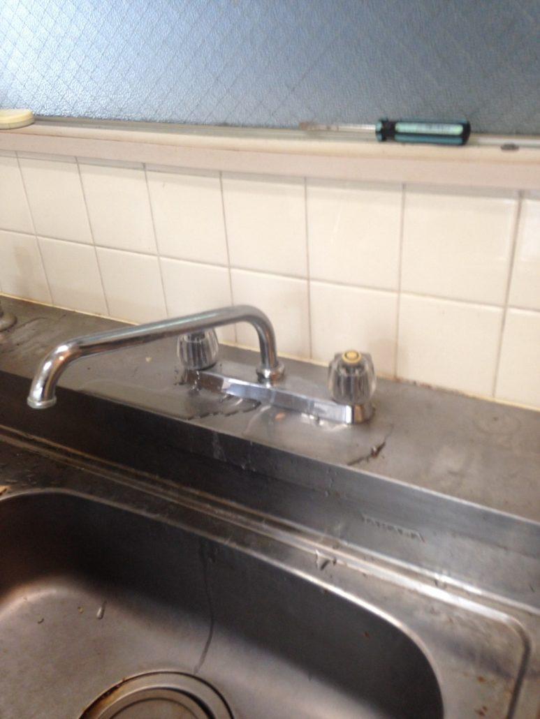 交換前の水栓