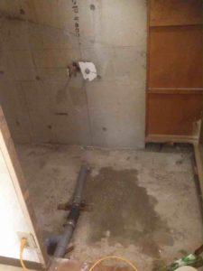 風呂釜の撤去