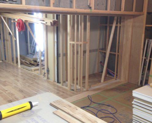 木工事と間仕切り壁工事