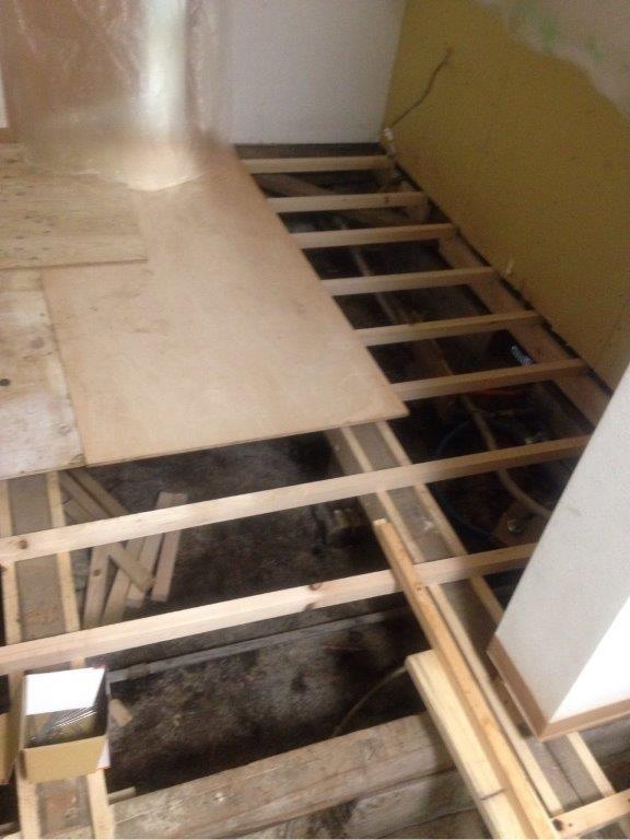 床の張り替え工事