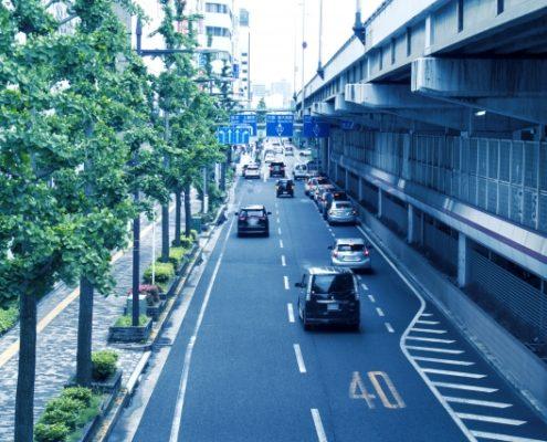 交通量が多い場所